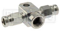Click for a larger picture of AiM Brake Pressure T-Fitting, Female 10x1.0 Convex to -3