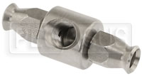 Click for a larger picture of Brake Pressure T-Fitting, Female 1/8 NPT to -3 Hose Ends