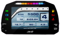 Click for a larger picture of AiM MXS 1.2 Strada Street Icons Dash with CAN Harness