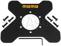 Click for a larger picture of MOMO 6-Bolt Carbon Fiber Plate for Steering Wheel Switches