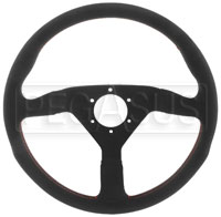 Click for a larger picture of MOMO Monte Carlo Alcantara Steering Wheel, Blk/Red, 350 mm