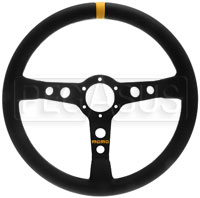 Click for a larger picture of MOMO Model 07 Steering Wheel, Black, Smooth Leather, 350mm