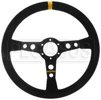 Click for a larger picture of MOMO Model 07 Steering Wheel, Black, Suede, 350mm