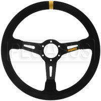 Click for a larger picture of MOMO Model 08 Steering Wheel, Black, Suede, 350mm