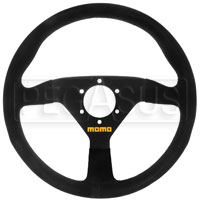 Click for a larger picture of MOMO Model 78 Steering Wheel, Black, Suede, 330mm