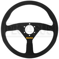 Click for a larger picture of MOMO Model 78 Steering Wheel, Black, Suede, 350mm