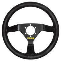 Click for a larger picture of MOMO Model 69 Racing Steering Wheel, Suede, 350mm