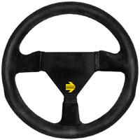 Click for a larger picture of MOMO Model 11 Round Steering Wheel, Suede, 260mm