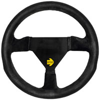 Click for a larger picture of MOMO Model 11 Round Steering Wheel, Suede, 280mm