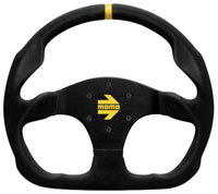 Click for a larger picture of MOMO Model 30 Flat Bottom Steering Wheel, Suede, 320mm