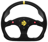 Click for a larger picture of MOMO Model 30 Steering Wheel, Suede, 320mm, with Buttons