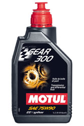 Click for a larger picture of Motul GEAR 300 Synthetic Racing Gear Oil, 75W-90