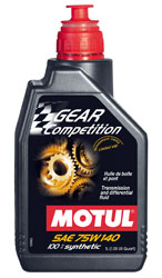 Click for a larger picture of Motul GEAR COMPETITION Synthetic Racing Gear Oil, 75W-140