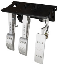 Click for a larger picture of OBP Pro-Race V2 3-Pedal Box, Firewall Mount, No MC, No Bar