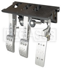 Click for a larger picture of OBP Pro-Race V2 3-Pedal Box, Firewall Mount, without MC
