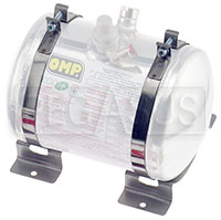 Click for a larger picture of OMP 160mm Fire Bottle Support Brackets with Straps