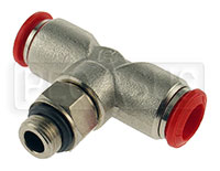 Click for a larger picture of OMP T-Shape Nozzle Connector for 8mm OD Aluminum Tubing
