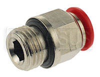Click for a larger picture of OMP Firing Head Connector - 1/4 BSP, for 8mm OD Tubing