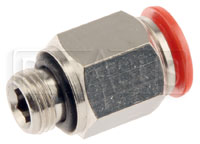 Click for a larger picture of OMP Straight Nozzle Connector for 8mm OD Aluminum Tubing