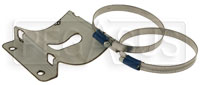 Click for a larger picture of OMP 100mm 0.9L Fire Bottle Support Bracket with Straps