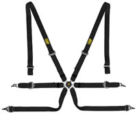 "Click for a larger picture of OMP Sedan 2x2 FIA SL Harness, 2"" Shoulder, 2"" Lap, Pull Up"