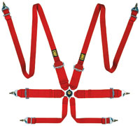 """Click for a larger picture of OMP Sedan 2/3x3 FIA Harness, 2/3"""" Shoulder, 3"""" Lap, Pull Up"""