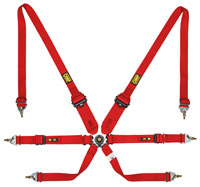 Click for a larger picture of OMP Sedan 2/3x2 FIA Harness, Pull Up / Pull Down Convertible