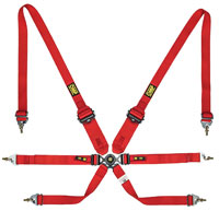 """Click for a larger picture of OMP ONE 2/3x2 FIA Sedan Harness, 2/3"""" Shoulder, 2"""" Lap, PD"""