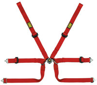 Click for a larger picture of OMP Formula 2x2 FIA SL Harness, Sewn Loop Shoulders, Pull Up