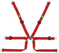 Click for a larger picture of OMP Formula 2x2 FIA SL Harness, Bolt-In Shoulders, Pull Up