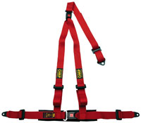 Click for a larger picture of OMP Strada 3 Harness, 3-Point w/Removable Shoulder Harness