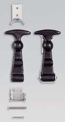 Click for a larger picture of OMP Rubber Draw Latches, X-Large T-Handle, Pair