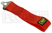 Click for a larger picture of OMP Flexible Polyester Strap Tow Loop, Red