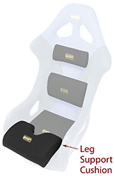 Click for a larger picture of Leg Support Cushion for OMP Seat, Black only