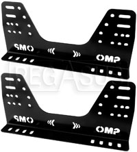 Click for a larger picture of OMP Steel Side-Mount Seat Brackets, Low (16 Holes), FIA
