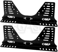 Click for a larger picture of OMP Steel Side-Mount Seat Brackets, Tall (36 Holes), FIA