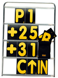 Click for a larger picture of OMP Professional 4 Row Pit Board