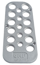 Click for a larger picture of OMP Cast Aluminum Dead Pedal, Flat