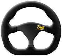 Click for a larger picture of OMP Formula Quadro Flat Bottom Suede Steering Wheel, 250mm