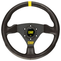 "Click for a larger picture of OMP Trecento Steering Wheel, Suede, 300mm (11.8"")"