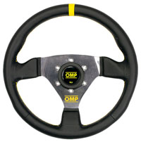 """Click for a larger picture of OMP Trecento Steering Wheel, Smooth Leather, 300mm (11.8"""")"""