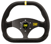 Click for a larger picture of OMP Kubic Steering Wheel, Suede, 310mm x 265mm