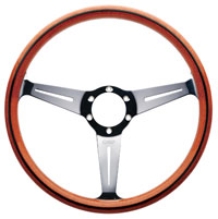 Click for a larger picture of OMP Monza Wood-Rimmed Steering Wheel, 360mm
