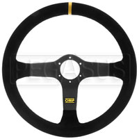 Click for a larger picture of OMP Carbon D Steering Wheel, Suede, 350mm
