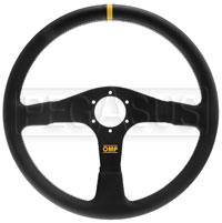 Click for a larger picture of OMP Velocita 380 Steering Wheel, Leather, 380mm