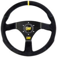 "Click for a larger picture of OMP Carbon S Steering Wheel, Suede, 320mm (12.6"")"