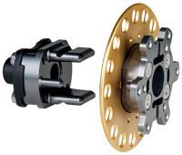 Click for a larger picture of OMP 2-Blade Quick Release Steering Hub, Weld-On