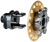 Click for a larger picture of OMP Quick Release Steering Hub, Weld-On w/ 11-pin Connector