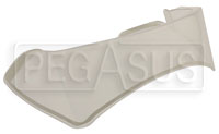 Click for a larger picture of Clear Rear Spoiler for OMP Speed and Grand Prix Helmets