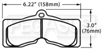 Click for a larger picture of PFC Racing Brake Pad, 67-82 Corvette, 67-68 Firebird (D8)